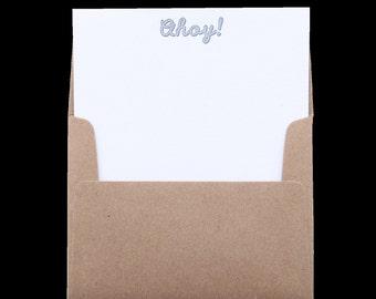 Ahoy! Letterpress Notes