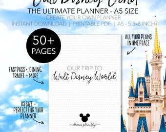 A5 Ultimate Walt Disney World Planner - Create Your Own Disney World Printable Planner - INSTANT DOWNLOAD Half Page A5 Size 5.8 x 8.3