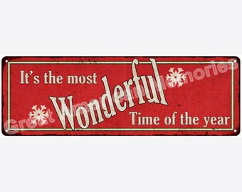 Wonderful Time of the Year Vintage Look Reproduction Metal 6x18 Sign 6180316