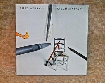 PAUL McCARTNEY - Pipes of Peace - 1983 Vintage GATEfold Vinyl Record Album