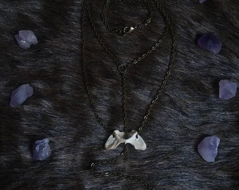 Amethyst & Vertebrae Necklace