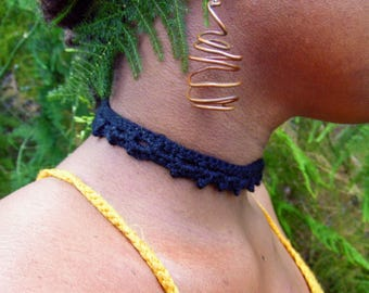 Midnight Crochet Choker
