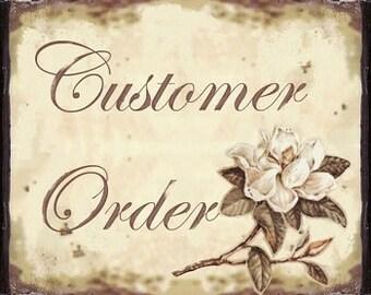 Customer order for Zara