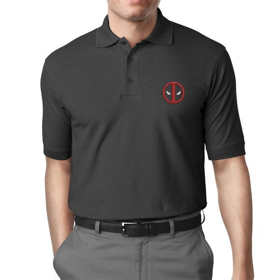 An Embroidered Polo. For the professional Deadpool lover.
