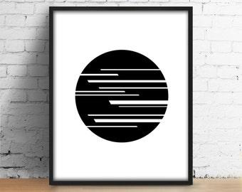 Circle Disk Digital Print Geometric Disk Circle Poster Abstract Art Scandinavian Modern Printable Wall Art