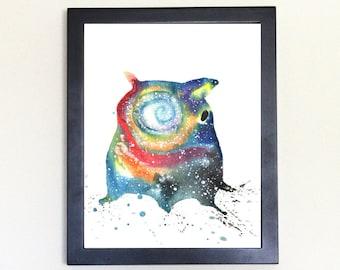 Dumbo Octopus Art Print Galaxy Spirit Animal Watercolor