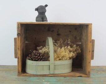 Vintage ~ Primitive Box ~ Storage Box ~ Stackable Box ~ Primitive Home Decor ~ Crate ~ Box with Handles