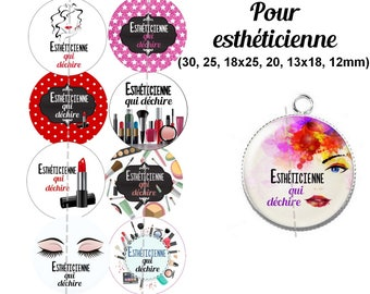 60 digital images for cabochon for beautician. 30, 25, 18 x 18, 20 and 25 x 13, 12mm