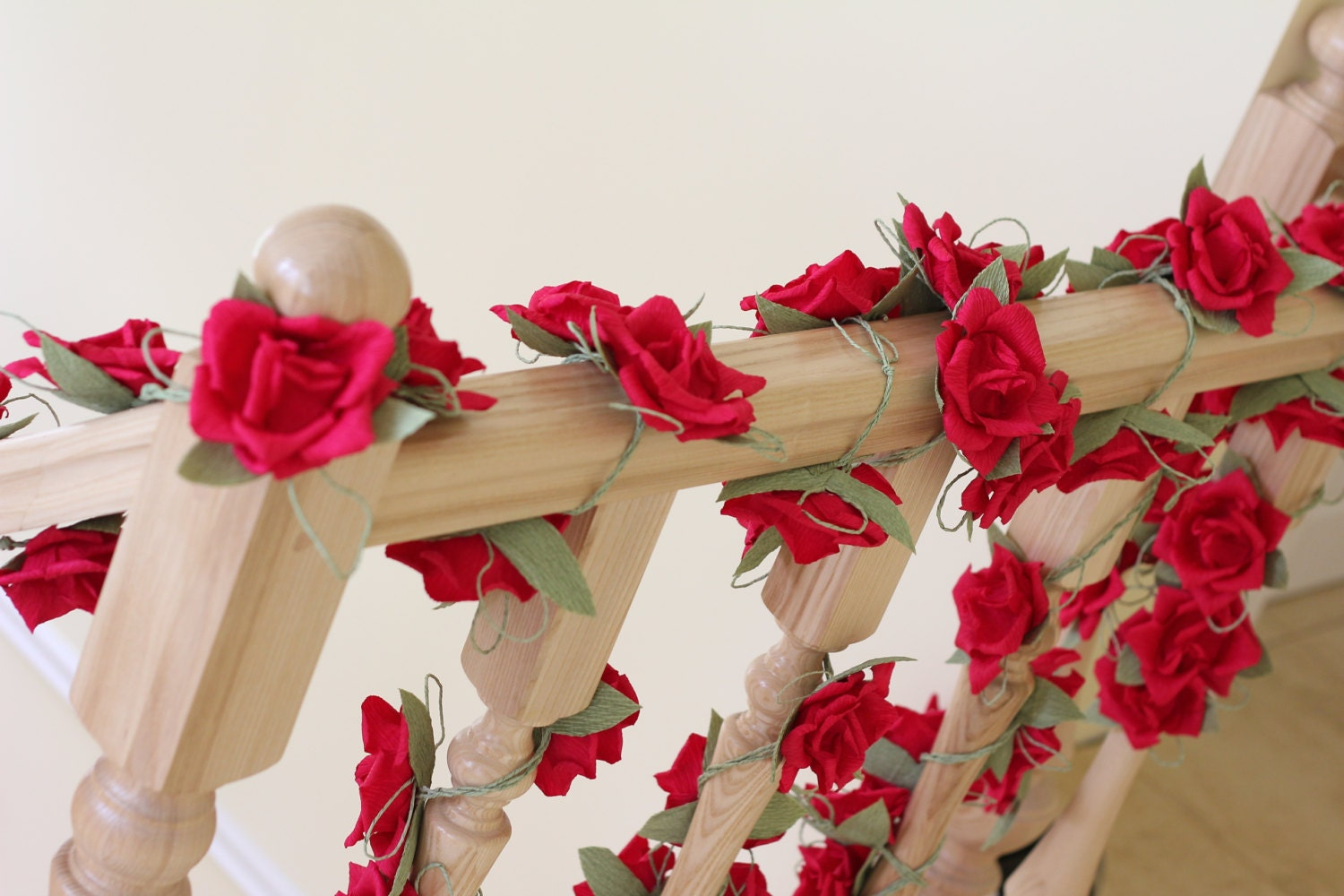 Paper garland wedding garland flower garland wedding flower zoom mightylinksfo