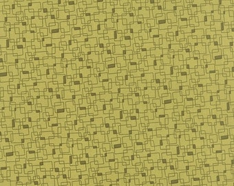 40% OFF SALE - PRINTS Charming Geometric Boxes in Light Green  17846-25 - Moda Fabrics  - By the Yard