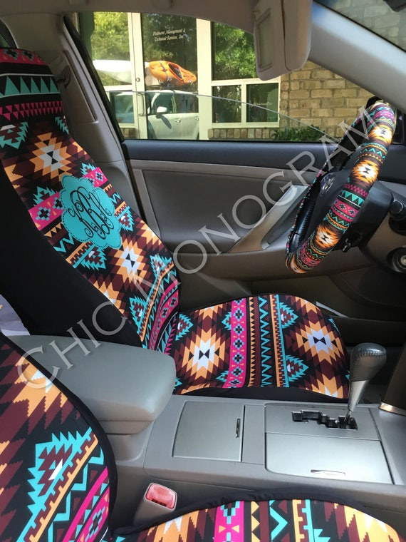 Aztec Car Seat Covers Tribal Back Seat Cover Steering Wheel Cover Monogrammed Aztec Car Accessories Seat Covers For Car For Vehicle Monogram