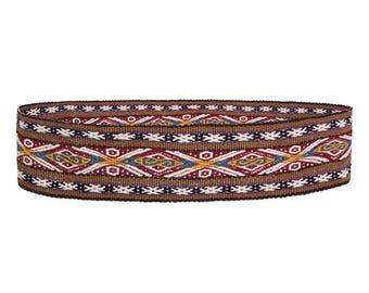 Peruvian hand woven belt, natural dyes