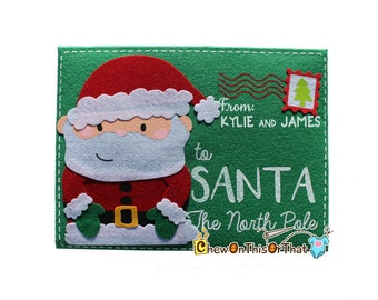 Dear santa letter etsy personalized extra large green letter to santa envelope dear santa letter thank you gift spiritdancerdesigns Images