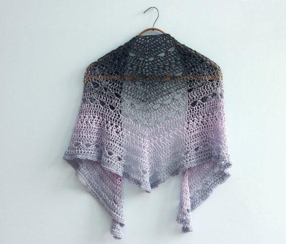 Crochet Shawl Pattern Lace Shawl Triangle Shawl Crochet
