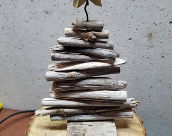 """Driftwood Christmas Tree Approximately 10"""" tall"""