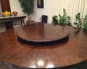 Large Wood Lazy Susan Table Centerpiece