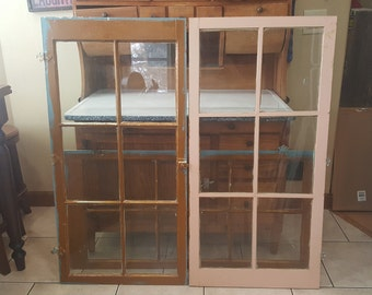 Superieur Old Wood Cabinet Door With Panes, Antique Glass Cupboard Doors, 6 Pane,  Architectural Salvaged, Building Supplies, Hardware, Hinges, AS92