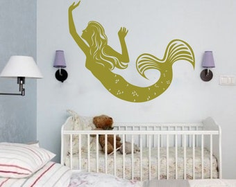 Wall Decal Window Sticker Stickers for children Baby stickers Baby Sticker toys Sticker dolphin mermaid t549
