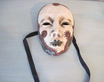 Venetian Paper Mache Mask, Masquerade Mask Wall Hanging