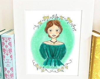 ON SALE Jo March Print - Little Women -wall art - HJM