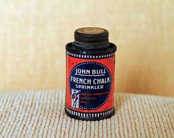 Small Tin - John Bull French Chalk Sprinkler