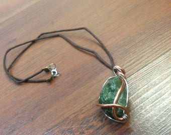Green Emerald Crystal Healing Necklace