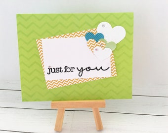 Set of 4 Just for  You/Thinking of You/ Note Cards/Handmade/All Occasion
