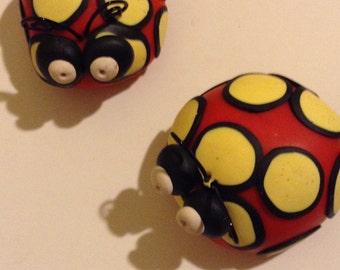 Ladybug Fridge Magnets