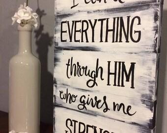 Philippians 4:13 Scripture Sign