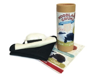 sewing kit - learn to sew a felt badger mini kit- beginners sewing kit