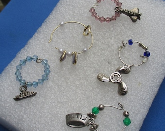Lot Of Assorted Wine Glass Marker Charms