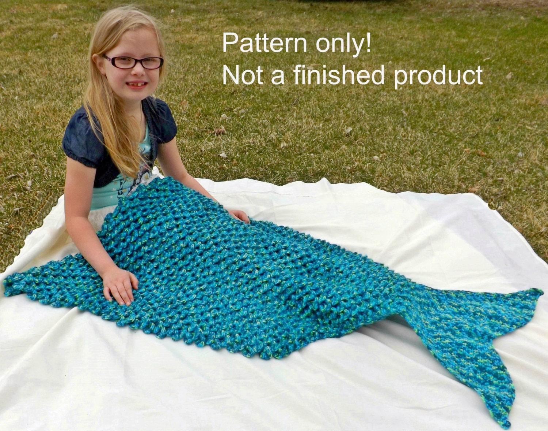 CROCHET PATTERN - Mermaid Tail Blanket Pattern - Adult size lap ...
