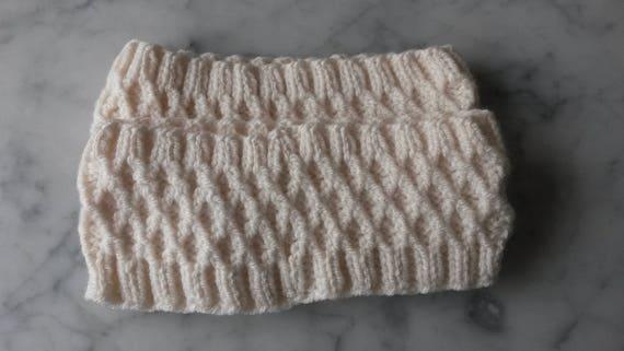 Knit headband: handknit hairband in wool/acrylic yarn. Made in Ireland. Cosy neckwarmer. Hiking hairband. Irish hairband. Xmas gift for her.