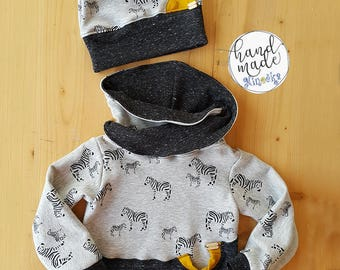 Hoodie Zebra with hat