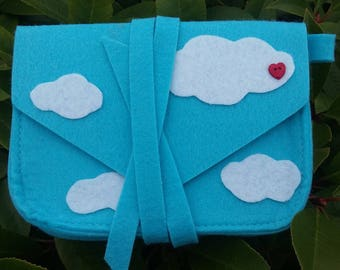 """Head in clouds"" felt storage pouch"