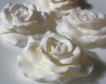 White Gardenia Soap Roses