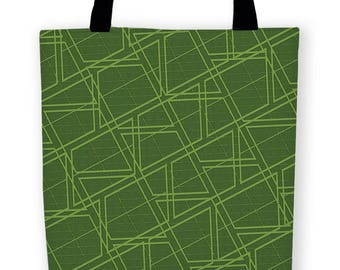 Geo Greenery Carryall Tote Bag
