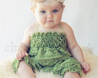 Ruffle Romper FERN - by Cheeky Chic Baby