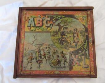REDUCED   J. H. Singer ABC Blocks 1893-1895