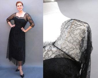 Reserved 1950s Moonlight Romance Dress, M