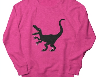 Raptor - Men's - Sweatshirt - Heather Heliconia - Heather Oatmeal - Heather Green by Oliver Lake - iOTA iLLUSTRATiON