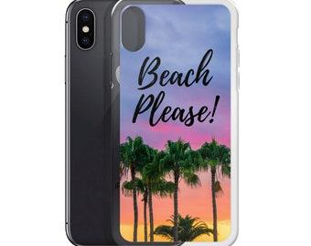 iPhone Case- iphone beach case- cell phone accessory- cell phone cases- iphone- iphone 6 - iphone 6 plus - iphone 7/8 plus , iphone x