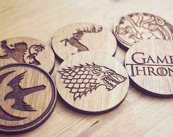 Set of 6 Game Of Thrones Inspired Coasters