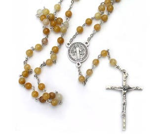 Saint Benedict Catholic Rosary Beads Patron Saint of Kidney Disease