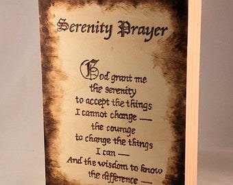 Serenity Prayer Saying Wood Burned On Wood Panel