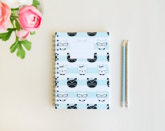 "Spiral Notebook ""Miau"", Cats notebook"