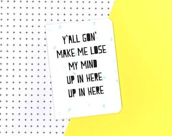 Party up notebook - DMX - Rap - lyrics