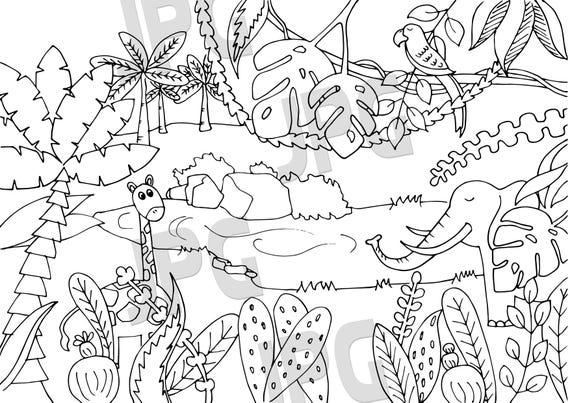 Großzügig Ausmalbilder Dschungel Ideen - Ideen färben - blsbooks.com