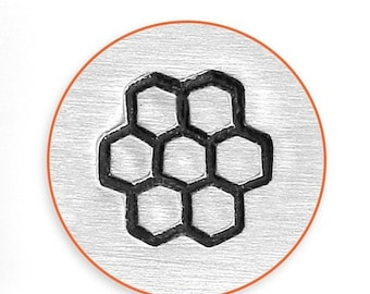 10% Off Clearance 6mm Honeycomb Metal Stamp, Bee Hive Stamp, Bee Stamp by ImpressArt Metal Stamp, Impress Art Metal Stamping Tools, Supplies