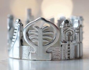 Dubai Ring - Statement Ring - Wedding Gift - Engagement Ring - Precious Ring - White Gold Ring - Mothers Day Gift